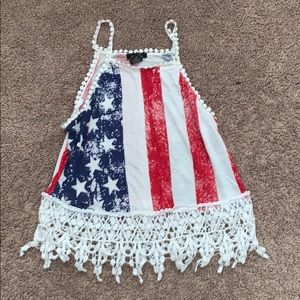 4th of July crop top